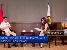 Tahun 2020, Wilayah Indonesia 100% Tersambung Listrik