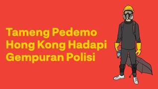 INFOGRAFIS: Tameng Pedemo Hong Kong Hadapi Polisi