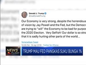 Khawatir Resesi, Trump Minta The Fed Pangkas Suku Bunga 1%