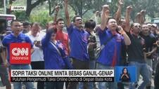 VIDEO: Sopir Taksi Online Minta Bebas Ganji Genap