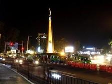 Status KLB, Jalan Protokol Bogor Disemprot Disinfektan