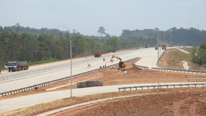 Hingga Agustus 2019, progres konstruksi Tol Balikpapan-Samarinda sepanjang 99 km sudah mencapai 96,827%