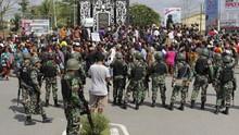 Polisi Gerebek Diduga Markas KNPB Samping Gedung SMP Mimika