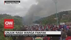 VIDEO: Unjuk Rasa Warga Fakfak Papua