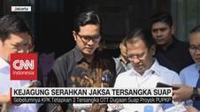 VIDEO: Kejagung Serahkan Jaksa Tersangka Suap ke KPK