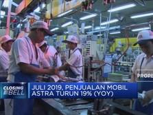 Penjualan Mobil Astra Turun 19% Secara Tahunan