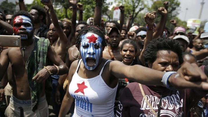 Demo di Jakarta, Mahasiswa Papua Kibarkan Bintang Kejora