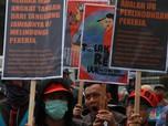 Serikat Buruh Geruduk DPR, Tolak Revisi UU Ketenagakerjaan