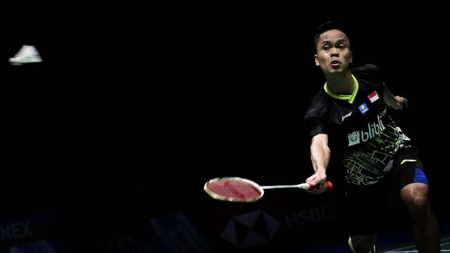 Anthony Ginting Kalah di 16 Besar Kejuaraan Dunia Bulutangkis