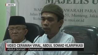 VIDEO: Isi Ceramah Viral, Abdul Somad Klarifikasi