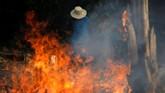 Sebagian besar titik api itu berada di lembah Amazon, hutan tropis terbesar di dunia. (REUTERS/Bruno Kelly)