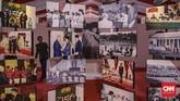 Kegiatan pameran Festival Indonesia Maju ini diselenggarakan Kementerian Sekretariat Negara dengan tujuan membuka akses informasi seluas-luasnya kepada masyarakat mengenai sisi politisdan humanis para presiden. (CNN Indonesia/Bisma Septalisma)