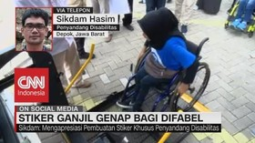 VIDEO: Stiker Ganjil Genap Dimata Penyandang Disabilitas