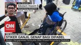 VIDEO: Stiker Ganjil Genap Dimata Penyandang Disabilitas