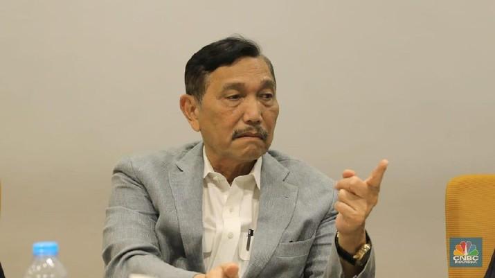 Menteri Koordinator Kemaritiman Luhut Binsar Pandjaitan z(CNBC Indonesia/ Andrean Kristianto)