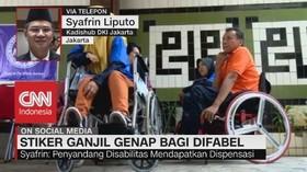 VIDEO: Stiker Ganjil Genap Bagi Difabel