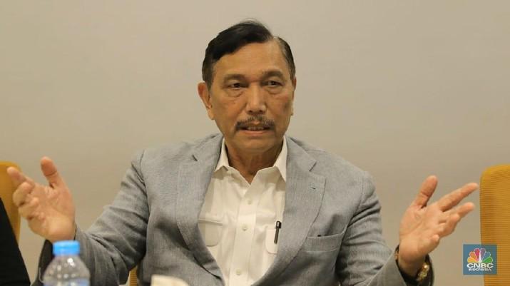 Menteri Koordinator Kemaritiman Luhut Binsar Pandjaitan (CNBC Indonesia/ Andrean Kristianto)