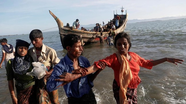 FOTO: Warga Rohingya Kembali Tolak Dipulangkan ke Myanmar