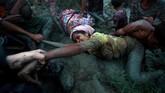 Lebih dari 3.000 warga etnis Rohingya menolak dipulangkan ke Myanmar kendati pemerintah telah menyediakan transportasi dan bantuan logistik untuk menyeberangi perbatasan.(REUTERS/Hannah McKay/File Photo)