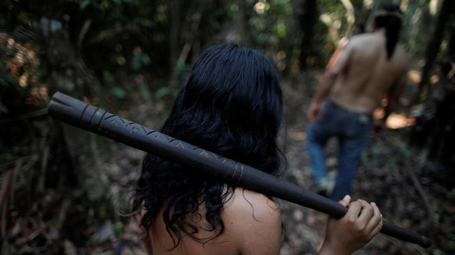 Sementara sepekan terakhir INPE memetakan kebakaran hutan meningkat lebih dari 80 persen. (REUTERS/Ueslei Marcelino)