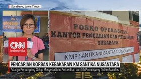 VIDEO: Pencarian Korban Kebakaran Kapal Santika Nusantara