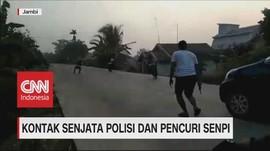 VIDEO: Kontak Senjata Polisi dan Pencuri Senpi di Jambi
