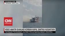 VIDEO: Detik-Detik Evakuasi Korban Kapal Santika Nusantara