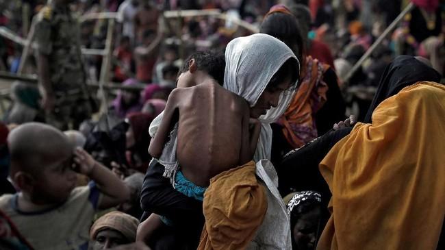 Etnis Rohingnya menolak pemulangan karena kondisi negara bagian Rakhine yang masih bergejolak.(REUTERS/Hannah McKay/File Photo)