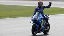 Kalahkan Marquez di MotoGP Inggris, Rins Nyaris Blunder