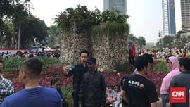 Gabion Jadi Incaran Swafoto Warga Jakarta di 'Car Free Day'