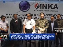 2019, INKA Targetkan Ekspor 250 Kereta ke Bangladesh