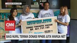 VIDEO: Baiq Nuril Terima Donasi Rp400 Juta dari Warganet