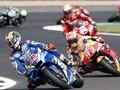 FOTO: Rins Bikin Marquez Gigit Jari di MotoGP Inggris