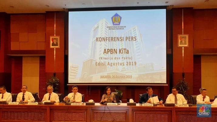 Menteri Keuangan Sri Mulyani Indrawati membeberkan kondisi APBN per Juli 2019.
