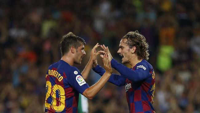 Hasil Liga Spanyol: Griezmann Dua Gol, Barcelona Tekuk Betis