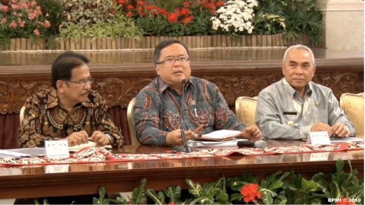 Hal itu disampaikan Bambang dalam keterangan pers di Istana Negara, Kompleks Istana Kepresidenan, Jakarta, Senin (26/8/2019).
