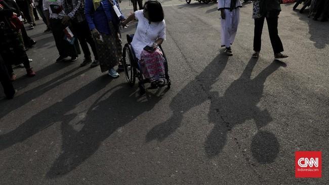 Rute pawai berawal dari Monas ke Bundaran Hotel Indonesia (HI). (CNN Indonesia/Adhi Wicaksono)