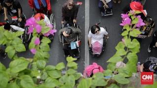 FOTO: Pawai Penyandang Disabilitas Serukan Tolak Diskriminasi