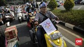 Mereka juga menuntut pemerintah membentuk Komisi Nasional Disabilitas. (CNN Indonesia/Adhi Wicaksono)