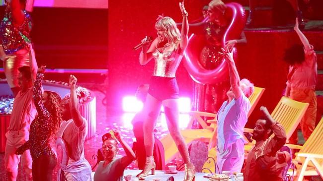 Acara MTV Video Music Awards 2019 untuk pertama kalinya dilaksanakan di New Jersey, Minggu (26/8) malam waktu setempat. (REUTERS/Lucas Jackson)