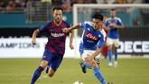 Munculnya nama Ivan Rakitic dalam paket barter Barcelona ke PSG sempat menimbulkan kejutan. Saat ini, rumor tersebut tak lagi terdengar. (Photo by RHONA WISE / AFP)