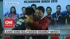 VIDEO: Juara Dunia Bulutangkis Disambut Meriah