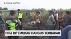 VIDEO: Pria Ditemukan Hangus Terbakar di Ladang Tebu