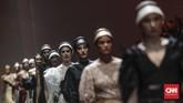 The Amish dikenal sebagai orang-orang yang hidup sederhana dengan pakaian serba polos dan menolak teknologi modern.(CNN Indonesia/Bisma Septalisma)