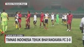 VIDEO: Timnas Indonesia Tekuk Bhayangkara FC 2-0