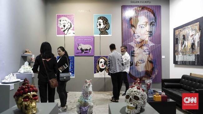 Merupakan presentasi spesial dari tujuh seniman yang direpresentasikan oleh 7 galeri dan akan menempati area-area khusus yang menyebar di seluruh area Art Fair. (CNN Indonesia/Safir Makki)