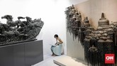 Art Jakarta Gallery merupakan pameran utama yang mengetengahkan 70 galeri, dengan 40 galeri berasal dari negara-negara di kawasan Asia Pasifik dan 30 galeri berasal dari Indonesia. (CNN Indonesia/Safir Makki)