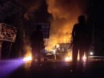 Pemandangan Gedung-gedung Terbakar Akibat Demo di Jayapura