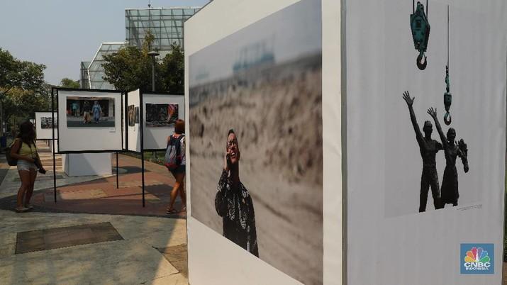 Ragam peristiwa yang mewarnai Ibu Kota terekam dalam pameran fotografi bertajuk 'Rekam Jakarta' yang digelar di Taman Menteng.