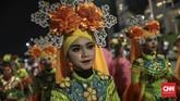 Untuk kenyamanan bersama,Pemprov DKI menganjurkan warga yang ingin berkunjung ke Jakarta Muharram Festival menumpang MRT. (CNN Indonesia/Bisma Septalisma)
